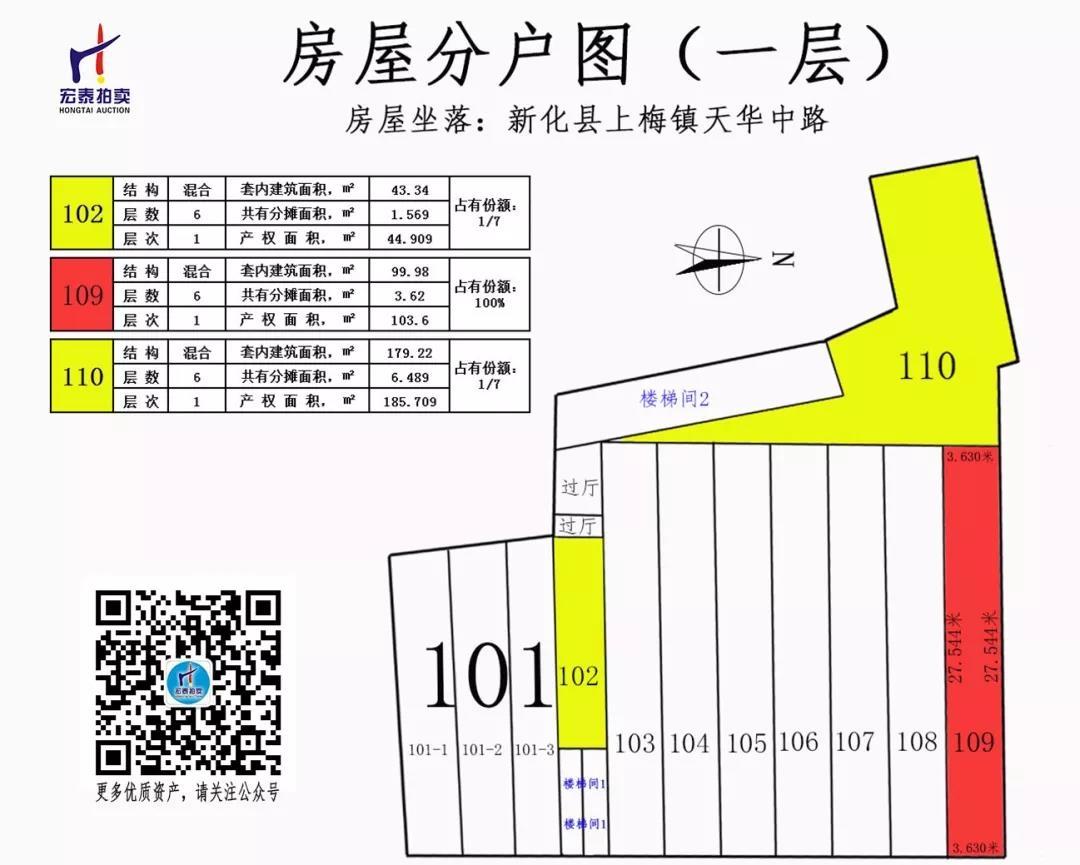 新化县上梅镇天华中路(亿客隆服饰2店)部份资产